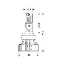 12V-24V Halo Led Serie 7 Compact -H8-H9-H11-H16,36V -6500K-6000lm,2 lampade