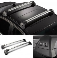 2x BARRE PORTATUTTO ALLUMINIO + KIT PER VW GOLF 7 (2012) WHISPBAR