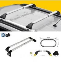 Barre portatutto FAPA per PEUGEOT BIPPER con railing dal 2008 in alluminio