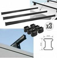 3 Barre portatutto per Opel Combo 04/12>08/18 Nordrive serie kargo acciaio