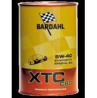 BARDAHL XTC 5W40,C60, OLIO MOTORE 100% SINTETICO AUTO A BENZINA E DIESEL 1 LITRO