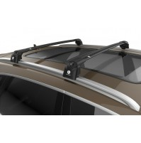 BARRE PORTATUTTO SU MISURA PER FIAT PANDA (2012>) - RAILING STANDARD - BLACK