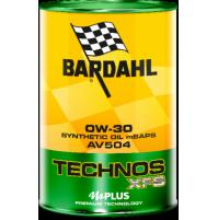 Bardahl Technos XFS AV504 0W-30 Olio Sintetico 1L Premium Technology mid SAPS