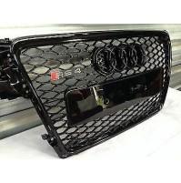 CALANDRA GRIGLIA ANTERIORE AUDI A4 MOD.B8 DAL 2012, STYLE RS4,IN ABS NERO LUCIDO
