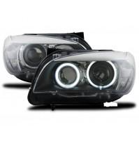 FARI ANTERIORI CON ANELLI ANGEL EYES BMW X1 (E84), ANNO DAL 2009 AL 2012,COPPIA