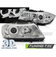 FARI ANTERIORI U-LED LIGHT ANGEL EYES 3D CHROME BMW E90/E91 03.05-08.08