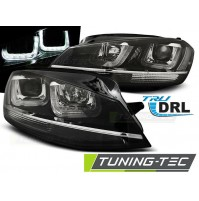 FARI ANTERIORI U LED LIGHT VOLKSWAGEN GOLF 7 DAL 201 AL 2017 BLACK, CHROME LINE