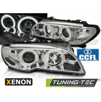 FARI ANTERIORI XENON ANGEL EYES 3D CHROME BMW E46 04.03-06 COUPE CABRIO