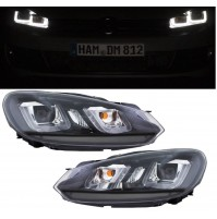 FARI FANALI ANTERIORI A LED GOLF VI ,6, VARIANTE CON INTERNO NERO,LOOK GOLF 7