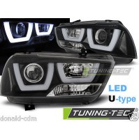 Fari anteriori DODGE CHARGER LX II 11-15 TUBE LIGHT BLACK,luci diure a LED