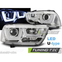 Fari anteriori DODGE CHARGER LX II 11-15 TUBE LIGHT CROMO,luci diure a LED