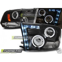 Fari anteriori DODGE RAM 09-11 ANGEL EYES BLACK