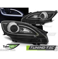 Fari anteriori MAZDA 3 09-10.13 TUBE LIGHT BLACK,omologati