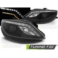 Fari anteriori SEAT IBIZA 6J 06.08-12 DAYLIGHT LED INDICATOR BLACK, omologati