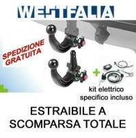 Gancio traino WESTFALIA (A40V) AUDI Q8  02/2018- estraibile + kit elettrico