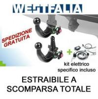 Gancio traino WESTFALIA CHEVROLET ORLANDO 01/11 estraibile + kit elettrico