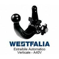 Gancio traino WESTFALIA FIAT 500 X TREKKING DAL 2014  KIT ESTRAIBILE A40V