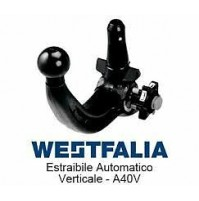 Gancio traino WESTFALIA JEEP CHEROKEE DAL 2014 NO TRAILHAWK  KIT ESTRAIBILE A40V