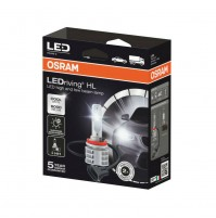 Kit conversione a LED H11Originale OSRAM, 14W-6000K veicoli 12V e 24V kit 2 pz.