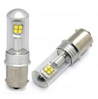 LAMPADE A LED S-25,12V-21W,BAU15S,BA15S P21W,8 CREE LED, 40W ULTRA POWER OEM NEW