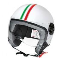 LD-2, casco demi-jet - Bandiera Italiana,visiera trasparente misura XL,lampa