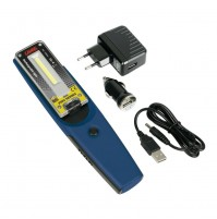 Lampada da lavoro ricaricabile a LED COB con torcia,12/24/230V GL-6,orientabile