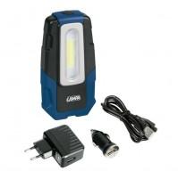 Lampada ispezione ricaricabile a LED COB,12/24/230V,GL-2 base magnetica,gancio,