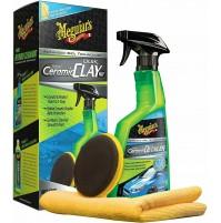 MEGUIAR'S G200200 Hybrid Ceramic Quik Clay Kit con ceramica ibrida sintetica