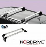 NORDRIVE SNAP ALU Barre Portatutto Auto per MITSUBISHI OUTLANDER 3 (CW0) - 2012+