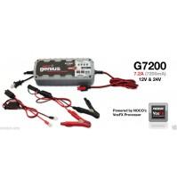 Noco G7200EU Genius Caricabatteria Smart, 12 V/24 V, 7.2 A,mantenitore di carica