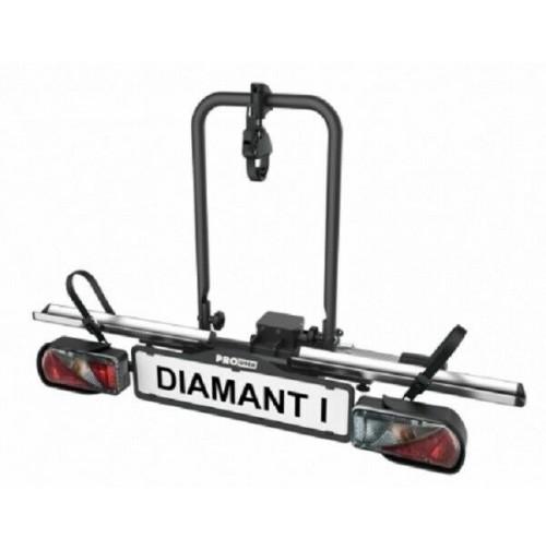 Portabici da gancio traino PRO USER, Diamant I,1 BIKE max 30 Kg,fisso