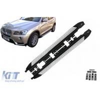 SET PEDANE SOTTOPORTA BMW X3 F25 (2011-2017)- acciaio+alluminio+pcv antiscivolo