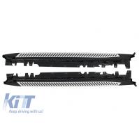 SET PEDANE SOTTOPORTA  BMW X5 F15 (2014-2018) acciaio+alluminio+pcv antiscivolo