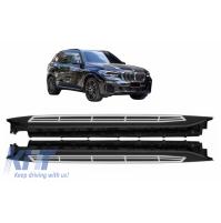 SET PEDANE SOTTOPORTA BMW X5 G05 (2018 -up) acciaio+alluminio+pcv antiscivolo