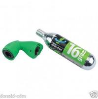 SLIME KIT GONFIAGGIO, EROGATORE MINI + CO2 16 grammi,MICROFLATE NANO GREEN