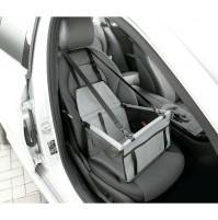 Seggiolino per trasporto di animali in auto su sedile anteriore o posteriore