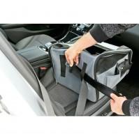 Seggiolino trasportino per animali,sedile anteriore o posteriore con bloccaggio