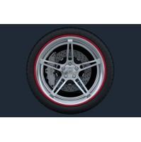 Set 4 anelli in ABS di protezione cerchi in lega,look sportivo, misura 15