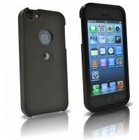 TETRAX, XCASE iPhone 5/5S Nero/Black, custodia con magnete integrato
