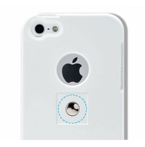 TETRAX, XCASE iPhone 5/5S bianco /white , custodia con magnete integrato