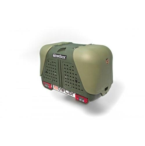 TowBox V2 Dog Verde, CERTIFICATO/OMOLOGATO PER IL TRASPORTO DI ANIMALI, 2 CANI