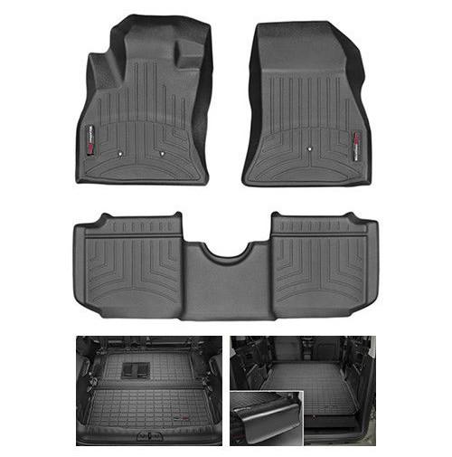 WEATHERTECH TAPPETINI AUTO SU MISURA FIAT 500L (2012->) - CAMBIO MANUALE